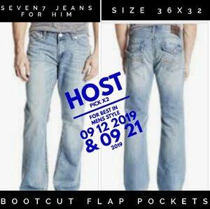 Seven7 Jeans Size 36x32 Boot Cut NWOT